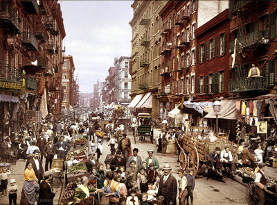 Mulberry Street, Little Italy NYC circa 1901. (source: Library of Congress)