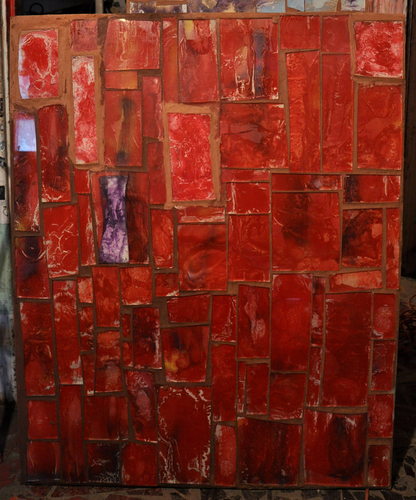 A 44 inch x 36 inch mosaic by Loring Cornish.