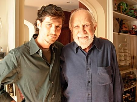 Steven Fischer with William Fraker shooting on location in Hollywood in 2008.