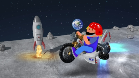 Big Wheel space adventure from EarthRise Apollo: Lunar Toons (2019) George Berlin Studios.